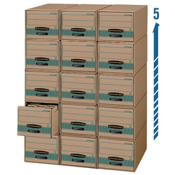 """Bankers Box® Stor/Drawer® Steel Plus™ Drawer Files, Legal Size, 23 1/4"""" x 15 1/2"""" x 10 3/8"""", 100% Recycled, Pack Of 6"""