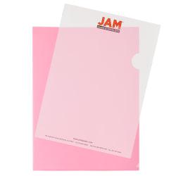 "JAM Paper® Plastic Sleeves, 9"" x 11 1/2"", 1"" Capacity, Red, Pack Of 12"