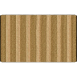 Flagship Carpets Basketweave Stripes Classroom Rug, 7 1/2' x 12', Brown