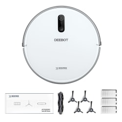 Ecovacs Robotics Deebot 710 Vacuum Cleaner With Service Kit, White