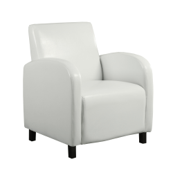 Monarch Specialties Maya Accent Chair, White