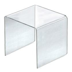 "Azar Displays 9-1/2"" Acrylic Riser Displays, 9-1/2""H x 9-1/2""W x 9-1/2""D, Clear, Pack Of 4 Risers"
