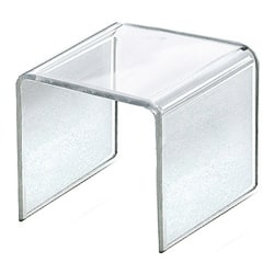 "Azar Displays Riser Displays, 3-1/2""H x 3-1/2""W x 3-1/2""D, Clear, Pack Of 4 Risers"