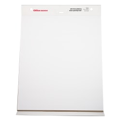 "Office Depot® Brand 30% Recycled Restickable Easel Pad With Liner, 20"" x 23"", White, 20 Sheets"