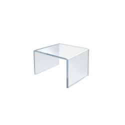 "Azar Displays Acrylic Riser Displays, 2""H x 2""W x 2""D, Clear, Pack Of 4 Risers"