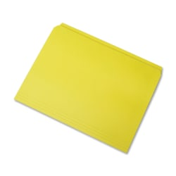 SKILCRAFT® Straight-Cut Color File Folders, Letter Size, 100% Recycled, Yellow, Box Of 100