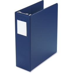 "Wilson Jones® Hanging Binder, 11"" x 8 1/2"", 3"" Rings, Blue"