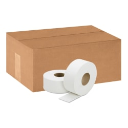 SKILCRAFT® Jumbo Roll 1-Ply Toilet Paper, 100% Recycled, 2000' Per Roll, Pack Of 12 Rolls