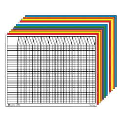 "Creative Shapes Horizontal Incentive Charts, 22"" x 28"", Multicolor, Pre-K - Grade 8, Pack Of 12"