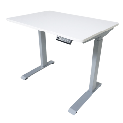 """Victor Electric Standing Desk, 28-3/4""""H x 36""""W x 23-5/8""""D, White"""