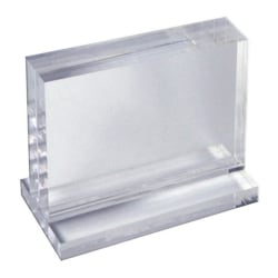 "Azar Displays Imperial Acrylic Block Sign Holder, 5""H x 7"" x 1-1/2""D, Clear"