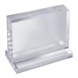 "Azar Displays Imperial Acrylic Block Sign Holder, 5-1/2""H x 8-1/2""W x 1-1/2""D, Clear"