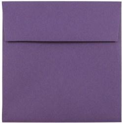 "JAM Paper® Color Square Invitation Envelopes, 5 1/2"" x 5 1/2"", Dark Purple, Pack Of 25"