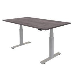 "Fellowes® Cambio Height-Adjustable Desk, 48""W, Gray Ash"