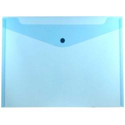 "JAM Paper® Booklet Plastic Envelopes, Letter-Size, 9 3/4"" x 13"", Blue, Pack Of 12"