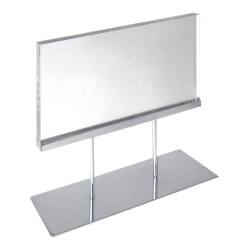 "Azar Displays Elite Series Acrylic Horizontal Block Countertop Sign Holder, 19""H x 17""W x 4""D, Clear"