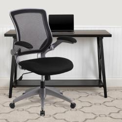 Flash Furniture Ergonomic Mesh Mid-Back Task Chair, Black