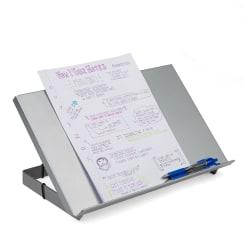 "Mind Reader Metal Resting Document Holder Easel, 2 1/2""H x 15""W x 9 3/4""D, Silver"