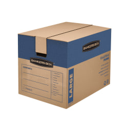 """Bankers Storage Box® SmoothMove™ Prime Moving & Storage Boxes, 18"""" x 18"""" x 24"""", 85% Recycled, Kraft, Case Of 6"""