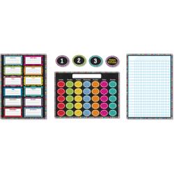 Carson-Dellosa Colorful Chalkboard Bulletin Board Set, Multicolor, Grades Pre-K - 8