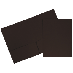 """JAM Paper® Matte 2-Pocket Presentation Folders, 9"""" x 12"""", 100% Recycled, Chocolate Brown, Pack Of 6"""
