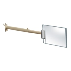 """Azar Displays 2-Sided Aisle Acrylic Sign Holders With Telescopic Grippers, 5""""H x 7""""W x 1/4""""D, Clear, Pack Of 4 Grippers"""