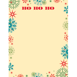 "Great Papers!® Holiday Stationery, 8 1/2"" x 11"", Ho Ho Snowflake, Pack Of 80 Sheets"