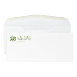 "Custom PMS 1-Color Flat Print #10 Envelopes, Cougar® Opaque Smooth, 4-1/8"" x 9-1/2"", White, Box Of 250 Envelopes"