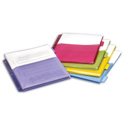 Office Depot® Brand Expanding Index Dividers, 5 Tabs, Assorted, Pack Of 5