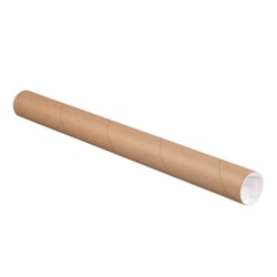 """Office Depot® Brand Mailing Tubes With Caps, 2"""" x 18"""", Kraft, Case Of 6 Tubes"""