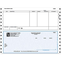 "Custom Continuous Accounts Payable Checks For RealWorld®, 9 1/2"" x 7"", Box Of 250"