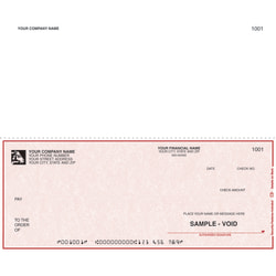 """Custom Continuous Multipurpose Voucher Checks For RealWorld®, 9 1/2"""" x 7"""", 1 Part, Box Of 250"""
