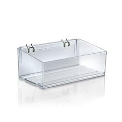 Azar Displays Adjustable Divider Bin, Small Size, Clear