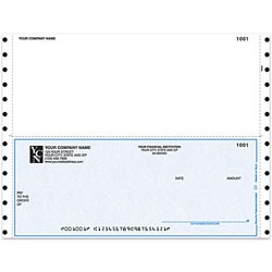 "Custom Continuous Multipurpose Voucher Checks For Business Works®, 9 1/2"" x 7"", 1 Part, Box Of 250"