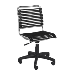 Eurostyle Allison Bungie Low-Back Commercial Office Chair, Black/Silver