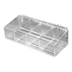 Azar Displays Adjustable Divider Bin, Small Size, Clear