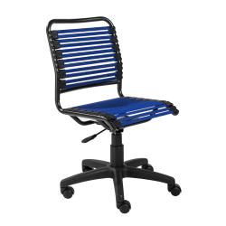 Eurostyle Allison Bungie Low-Back Commercial Office Chair, Black/Blue