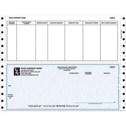 "Custom Continuous Accounts Payable Checks For Dynamics®, 9 1/2"" x 7"", 2 Parts, Box Of 250"