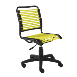 Eurostyle Allison Bungie Low-Back Commercial Office Chair, Black/Green