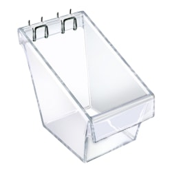 Azar Displays Display Buckets, Small Size, Clear, Pack Of 4