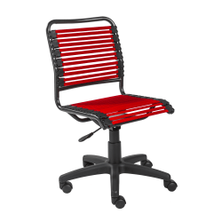 Eurostyle Allison Bungie Low-Back Commercial Office Chair, Black/Red
