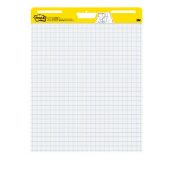 "Post-it® Super Sticky Easel Pad, With 1"" Grid Lines, 25"" x 30"", White, Pad Of 30 Sheets"
