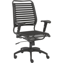 Eurostyle Baba Bungie High-Back Commercial Office Chair, Graphite/Black