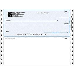 """Custom Continuous Multipurpose Voucher Checks For Quicken® / Quickbooks® / Microsoft®, 9 1/2"""" x 7"""", 3-Part, Box Of 250"""