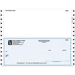 "Custom Continuous Multipurpose Voucher Checks For Great Plains®, 9 1/2"" x 7"", 3 Parts, Box Of 250"
