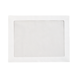 """LUX Full-Face Window Envelopes With Peel & Press Closure, #6 3/4, 10"""" x 13"""", Bright White, Pack Of 250"""