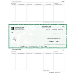 "Custom Laser Accounts Payable Checks For RealWorld®, 8 1/2"" x 11"", 2 Parts, Box Of 250"