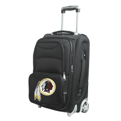 "Denco Nylon Expandable Upright Rolling Carry-On Luggage, 21""H x 13""W x 9""D, Washington Redskins, Black"