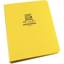 """Rite In The Rain All-Weather 6-Ring Binder, 1"""" Round Rings, Yellow, Pack Of 5"""