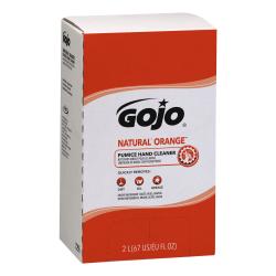 GOJO® Natural Orange Lotion Hand Pumice Soap, Citrus Scent, 67 Oz, Carton Of 4 Bottles